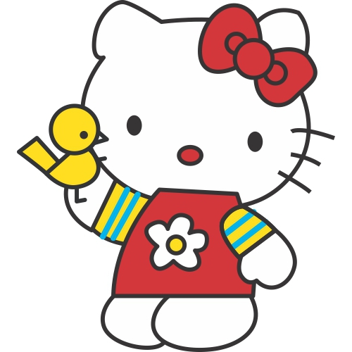 Hello Kitty DIY decals stickers version 18